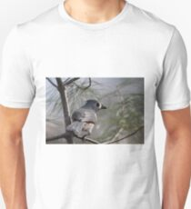 Tufted titmouse perched in a pine tree T-Shirt