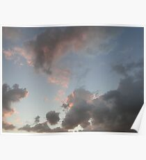 The Cloudy Sunset III Poster