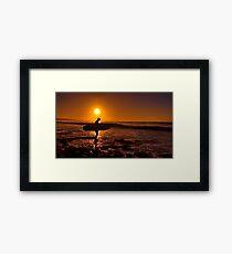 """""""Dawn Surfer"""" Framed Print"""
