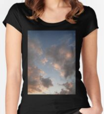 The Cloudy Sunset II Women's Fitted Scoop T-Shirt
