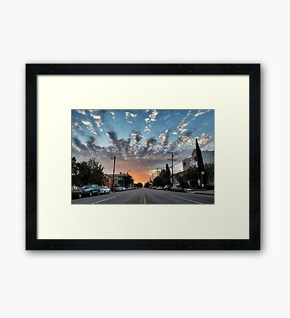 Broadway Blvd Sunrise Framed Print
