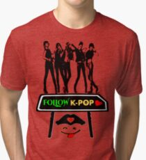 ♥♫Follow K-Pop Splendiferous K-Pop Clothing & Phone/iPad/Tablet/Laptop Cases & Stickers & Bags & Home Decor & Stationary♪♥ Tri-blend T-Shirt