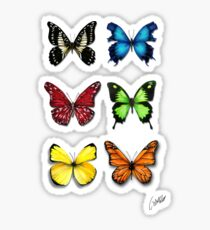 Butterflies Collection: color ur life Sticker