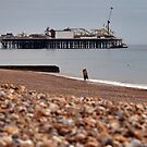 Lovers on Brighton Beach by JLaverty
