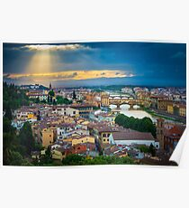 Firenze Sunset Poster