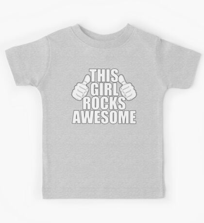 THIS GIRL ROCKS AWESOME SHIRT Kids Clothes