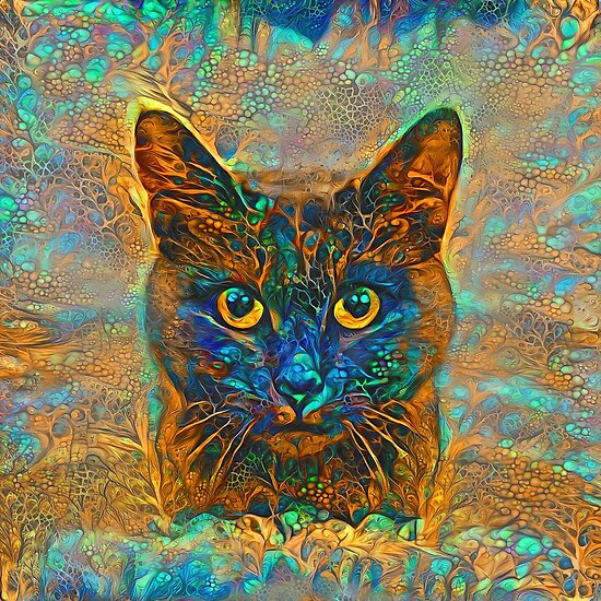 Abstractions of abstract floral cat