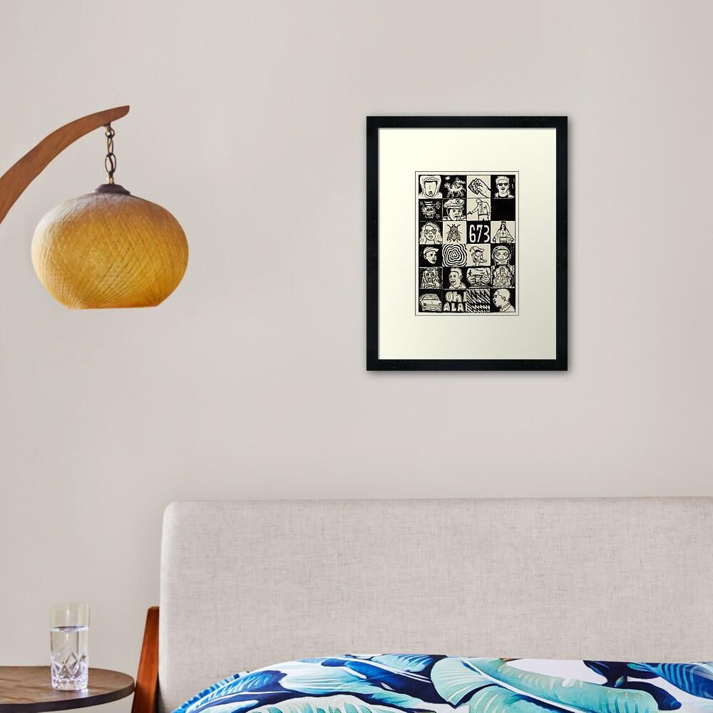 Ground Rush Framed Art Print