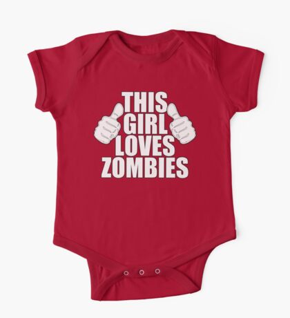 THIS GIRL LOVES ZOMBIES SHIRT Kids Clothes