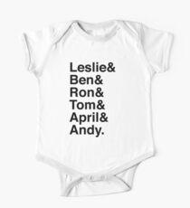 Leslie & Ben & Ron & Tom & April & Andy. (Parks & Rec) Kids Clothes