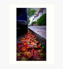 Side Street Autumn Art Print