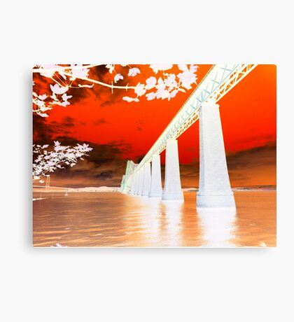 Abstract Forth Rail Bridge ~ South Queensferry Canvas Print