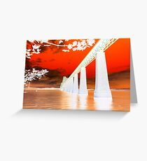 Abstract Forth Rail Bridge ~ South Queensferry Greeting Card