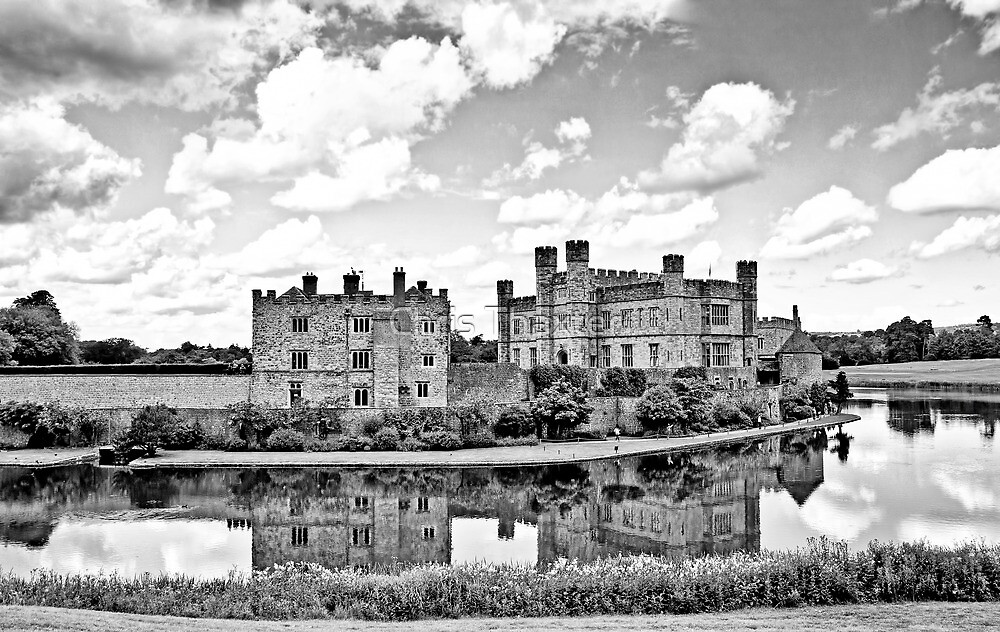 Leeds Castle Black and White by Chris Thaxter