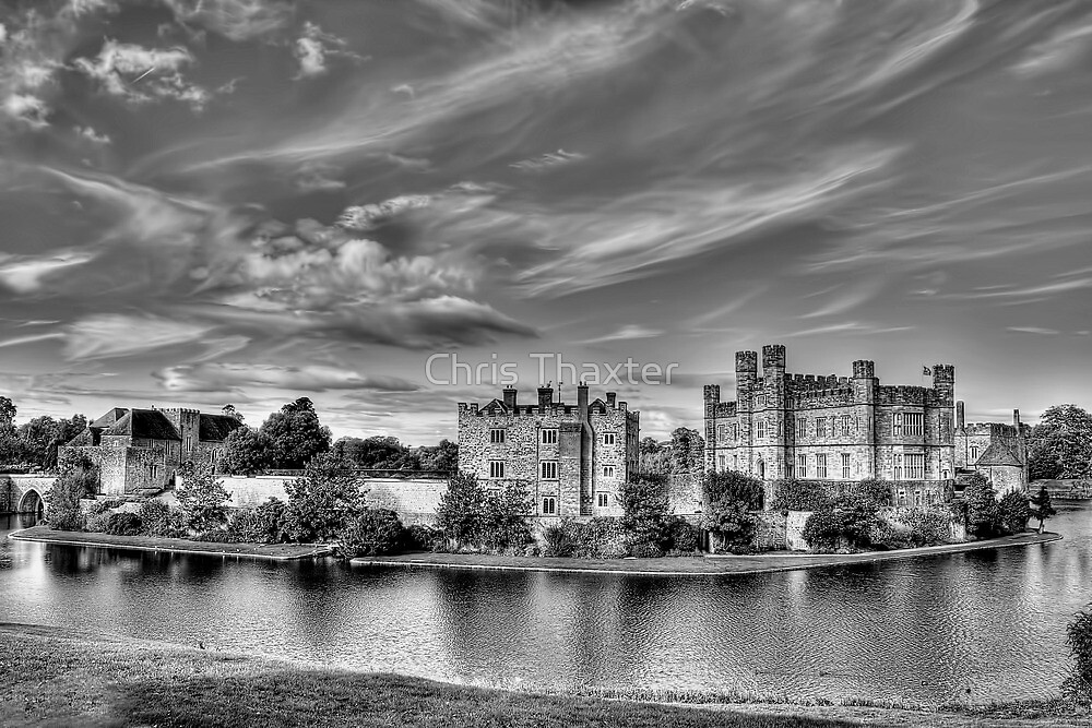 Leeds Castle Black and White 3 by Chris Thaxter