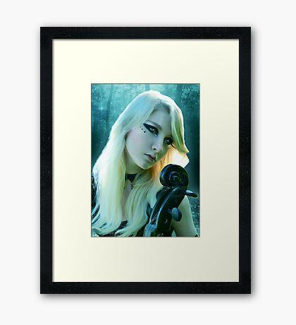 """""""Midnight Maiden"""" Framed Print"""