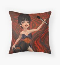 Liza: Modern Portrait of Liza Minnelli Throw Pillow