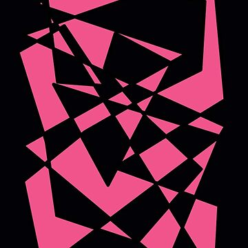 Pink/Black Abstract Phone Case by AlanaDZ