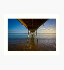 Under The Jetty Art Print