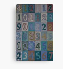 Paint by Numbers: An Ode to Jasper Johns Canvas Print