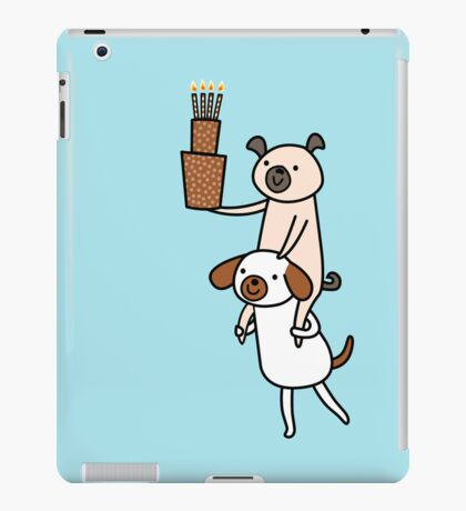 Two Dogs with Cake iPad Case/Skin