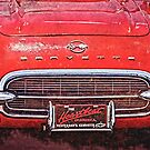 Vintage Red Vette by designingjudy