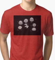 Panda bear family - Pandamonium! Tri-blend T-Shirt