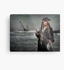Captain Jack Saves The Rum Metal Print