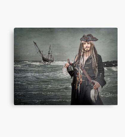 Captain Jack Saves The Rum Metal Print