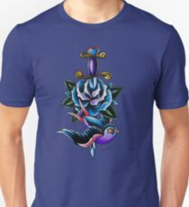 Heart Dagger Rose Swallow Unisex T-Shirt