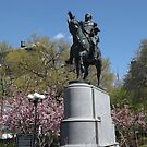 George Washington Statue, Spring Colors, Union Square, New York City by lenspiro