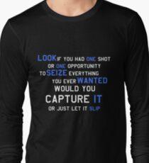 EMINEM MOTIVATIONNAL SHIRT WHITE&BLUE Long Sleeve T-Shirt