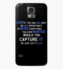 EMINEM MOTIVATIONNAL SHIRT WHITE&BLUE Case/Skin for Samsung Galaxy
