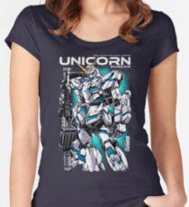 Unicorn Gundam T-Shirt Women's Fitted Scoop T-Shirt