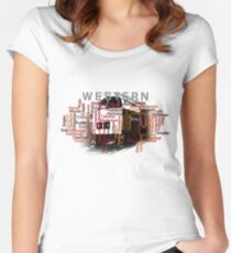Class 52 Western Name Word Art Women's Fitted Scoop T-Shirt
