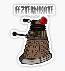 Dalek Fezterminate Sticker