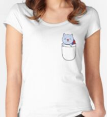 Pocket Catbug! Women's Fitted Scoop T-Shirt