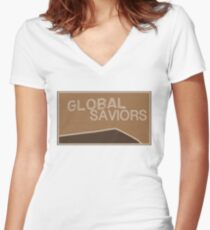Garth from Global Saviors Women's Fitted V-Neck T-Shirt
