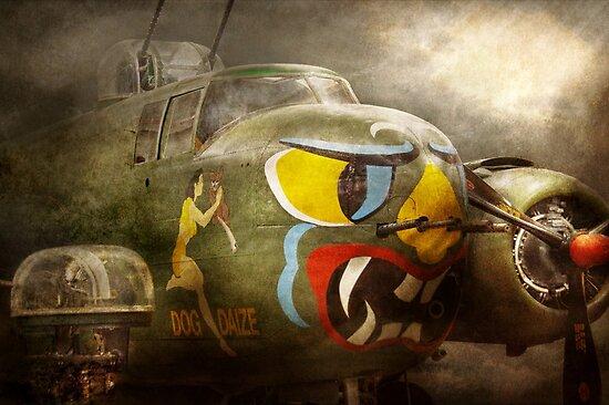 Plane - Pilot - Airforce - Dog Daize by Mike  Savad