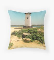 Edgartown Lighthouse, Martha's Vineyard Throw Pillow