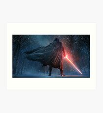 Kylo Ren Watercolor 2 Art Print