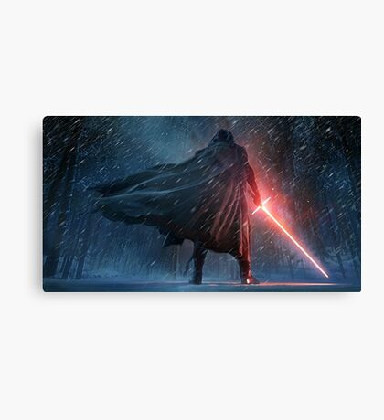 Kylo Ren Watercolor 2 Canvas Print