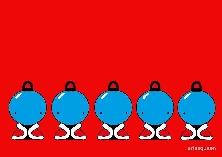 The Blue Santas by arlesqueen