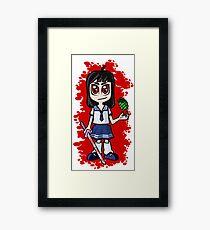 Japanese School girl Framed Print