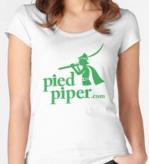 Silicon Valley's Pied Piper Shirt Women's Fitted Scoop T-Shirt