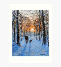 A Winters walk Art Print