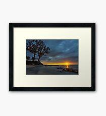 HDR - Two Tree Point, Adventure Bay, Bruny Island, Tasmania, Australia. Framed Print