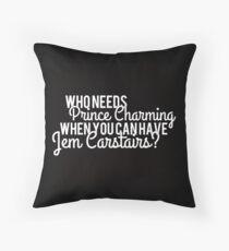 Prince Charming - Jem Carstairs Throw Pillow