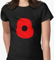 Rememberance Poppy Womens Fitted T-Shirt