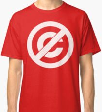 Public Domain Symbol, Copyleft [White Ink] Classic T-Shirt